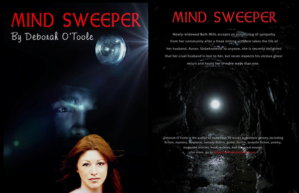 "Front and back covers of ""Mind Sweeper"" by Deborah O'Toole. Click on image to view larger size in a new window."