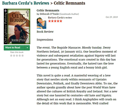 "Book review of ""Celtic Remnants"" at Good Reads"