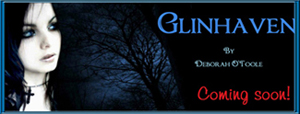 "Button for ""Glinhaven"" by author Deborah O'Toole"