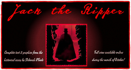 "Free view of ""Jack the Ripper"" by Deborah O'Toole during the month of October."