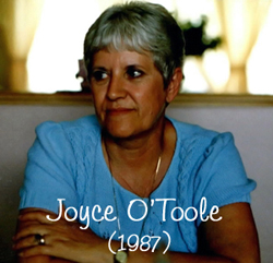 Joyce O'Toole (1987) during our trip to Canada.
