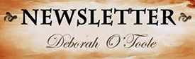 """Newsletter"" button for author Deborah O'Toole"