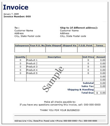 Commercial Invoice Template – 8+ Free Samples , Examples